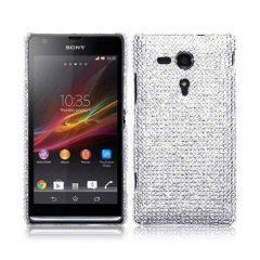 Terrapin Diamante Case for Sony Xperia SP - Silver