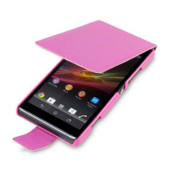 Terrapin Leather Style Flip Case for Sony Xperia SP - Pink