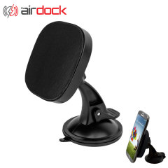 The Air Dock Qi Wireless Charging Car Mount and Holder - Black