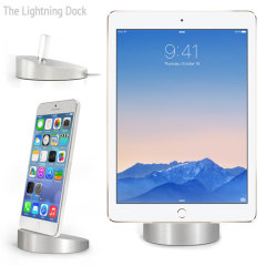 The Lightning Dock iPhone and iPad Sync & Charge Dock - Silver