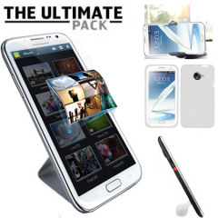 The Ultimate Samsung Galaxy Note 2 Accessory Pack - White
