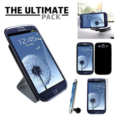 The Ultimate Samsung Galaxy S3 i9300 Accessory Pack - Black