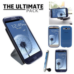 The Ultimate Samsung Galaxy S3 i9300 Accessory Pack - Blue