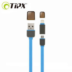 TipX Dual Lightning / Micro USB Sync & Charge Cable - Blue