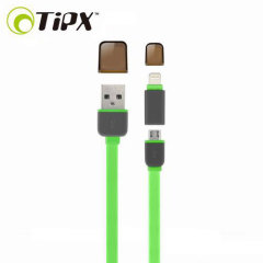 TipX Dual Lightning / Micro USB Sync & Charge Cable - Green