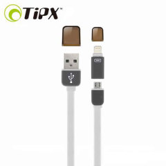 TipX Dual Lightning / Micro USB Sync & Charge Cable - White
