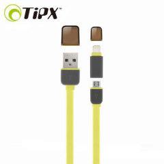 TipX Dual Lightning / Micro USB Sync & Charge Cable - Yellow
