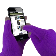 Touch Tip Gloves For Capacitive Touch Screens - Purple