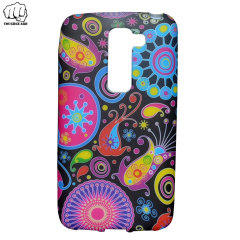 ToughGuard LG G2 Mini Rubberised Case - Psychedelic Flowers