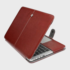 ToughGuard MacBook Pro Retina 13 Leather-Style Case - Brown