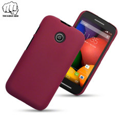 ToughGuard Motorola Moto E Rubberised Case - Red