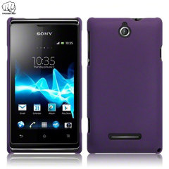 ToughGuard Sony Xperia E Hybrid Rubberised Case - Purple
