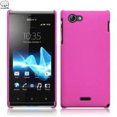 ToughGuard Sony Xperia J Hybrid Rubberised Case - Pink
