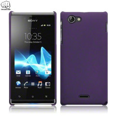 ToughGuard Sony Xperia J Hybrid Rubberised Case - Purple