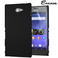 ToughGuard Sony Xperia M2 Rubberised Case - Black