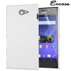 ToughGuard Sony Xperia M2 Rubberised Case - White