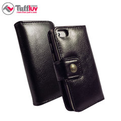 Tuff-Luv iPhone 6 Alston Craig Vintage Leather Wallet Case - Black
