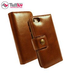 Tuff-Luv iPhone 6 Alston Craig Vintage Leather Wallet Case - Brown