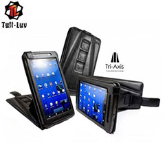 Tuff Luv Leather Flip Case For Archos 70 - Black