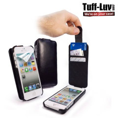 Tuff-Luv Leather In-Genius Flip for iPhone 5S / 5 - Black