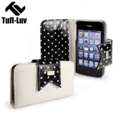 Tuff Luv Polka Hot Case for iPhone 4S / 4 - Black/White