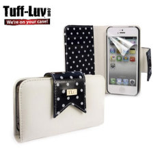 Tuff Luv Polka Hot Case for iPhone 5S / 5 - Black/White