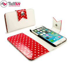 Tuff Luv Polka-Hot Leather-Style iPhone 6 Wallet Case
