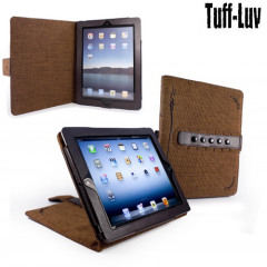 Tuff-Luv Tri-Axis Stasis Series: Natural Hemp Case and stand for Apple iPad 2 - Brown