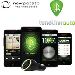 TuneLink Auto Bluetooth FM Transmitter for Android