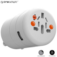 Twist World Adapter & 12W USB Charger - 2.4A USB Port