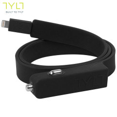 TYLT Band Non-Tangle 2.1A Lightning Car Charger - Black