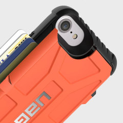UAG Trooper iPhone 7 Protective Wallet Case - Rust / Black
