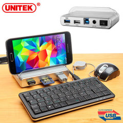 UNITEK All-in-One 3-Port USB 3.0 Hub with Smartphone Stand and OTG