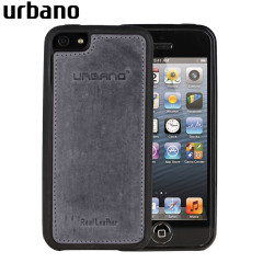 Urbano Genuine Leather Slim Case for iPhone 5 - Grey Vintage