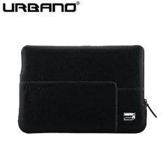 Urbano Premium Leather MacBook 12 Inch Sleeve - Black