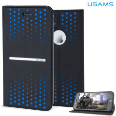 USAMS Groove Series iPhone 6 Leather-Style Stand Case - Blue Spots