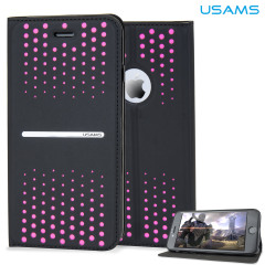 USAMS Groove Series iPhone 6 Leather-Style Stand Case - Pink Spots