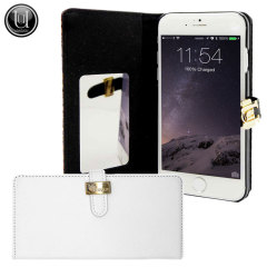 Uunique Luxe Exotic Leather iPhone 6 Slider Wallet Case - White