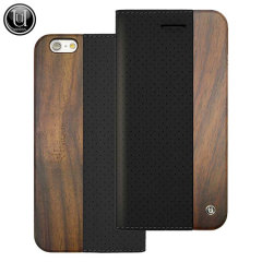 Uunique Perforated Design Wooden iPhone 6S / 6 Case  - Black