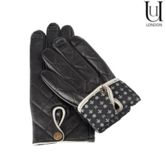 Uunique Women's Leather Touchscreen Gloves - Small / Medium