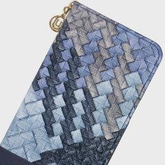 UUunique Weave Folio Samsung Galaxy S7 Leather-Style Case - Aqua Blue