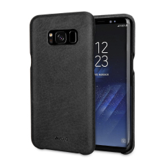 Vaja Grip Samsung Galaxy S8 Plus Premium Leather Case - Black