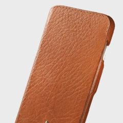 Vaja Ivo Top iPhone 7 Plus Premium Leather Flip Case - Dark Brown