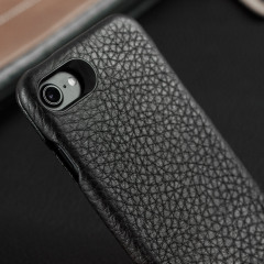 Vaja Ivo Top iPhone 7 Premium Leather Flip Case - Black