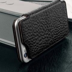 Vaja Slim Pelle iPhone 6S / 6 Premium Leather Book Flip Case - Black
