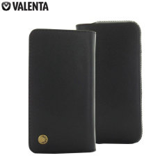 Valenta Universal 5 Inch Smartphone Genuine Leather Pouch - Black