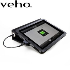 Veho Pebble Folio 6600mAh iPad / 2 / 3 Battery Charger - Black