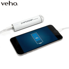 Veho Pebble Ministick Portable Power Bank - White