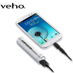 Veho Pebble Smartstick Portable Charger 2000mAh - Silver