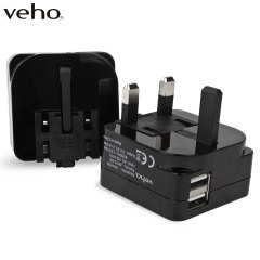 Veho VAA-009 Folding Dual USB Mains Adapter Plug - 2.1A